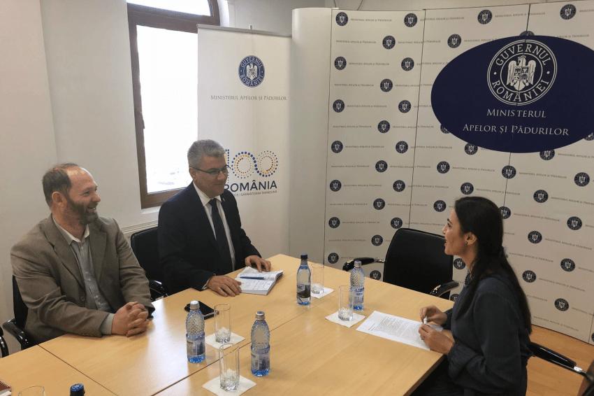 Gabriela Zoana - consultari la Ministerul Apelor si Padurilor