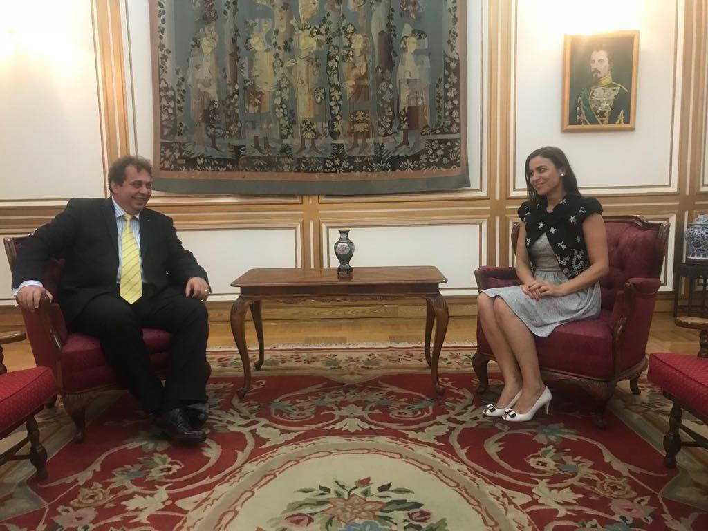 Gabriela Zoana in dialog cu ambasadorul Romaniei in China