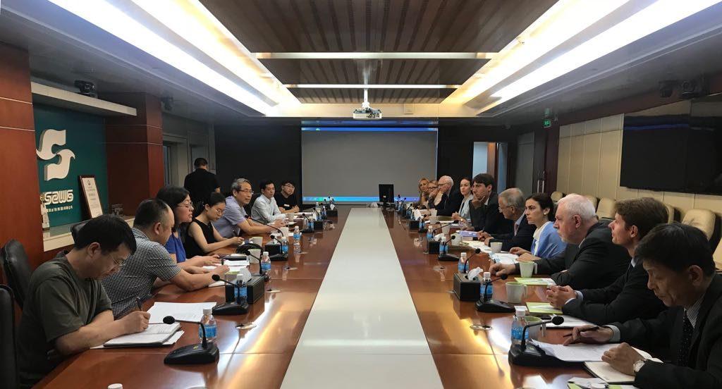 Gabriela Zoana la Compania de Apa din Shengzhen