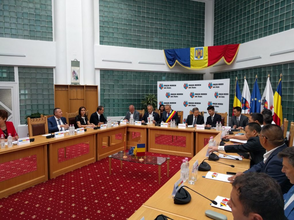 Întâlnirea bilaterală dintre reprezentanții administrației Municipiului Jinhua - China și administrația orașului Mioveni