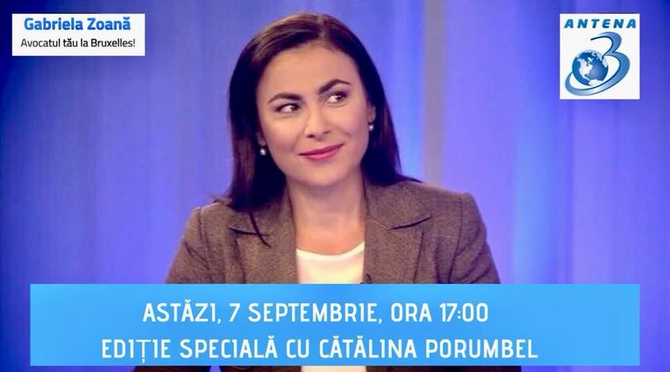 Interviu antena 3 cu Catalina Porumbel