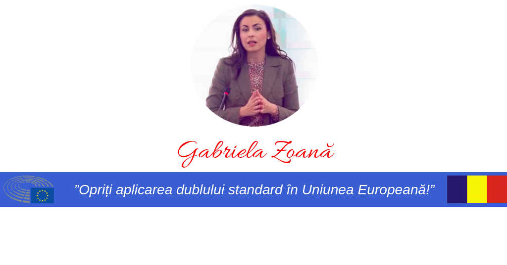 Gabriela Zoană - stoparea dublului standard