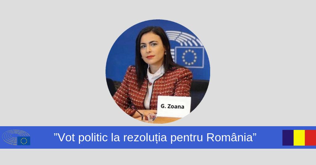 Gabriela Zoană - rezolutia pentru Romania
