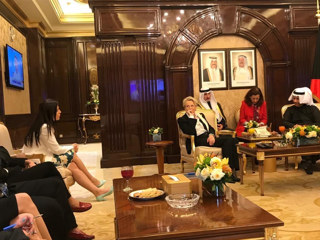 Gabriela Zoana cu prim-ministrul Kuweitului