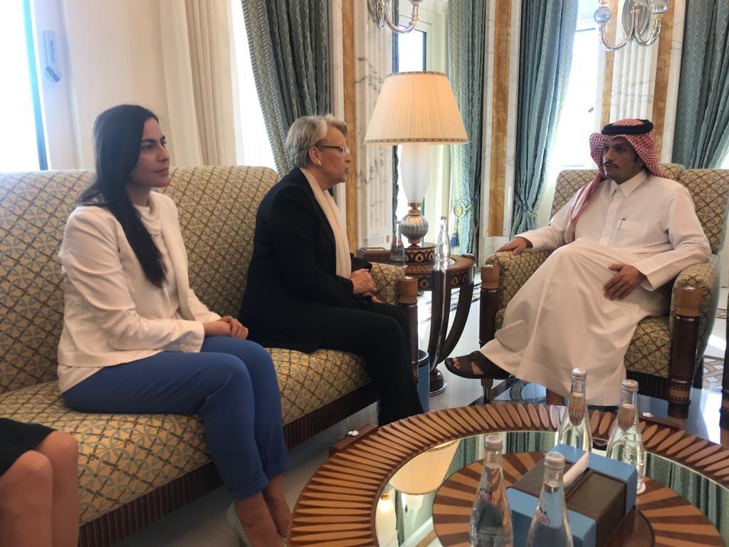 Gabriela Zoana si viceprim-ministrul din Qatar