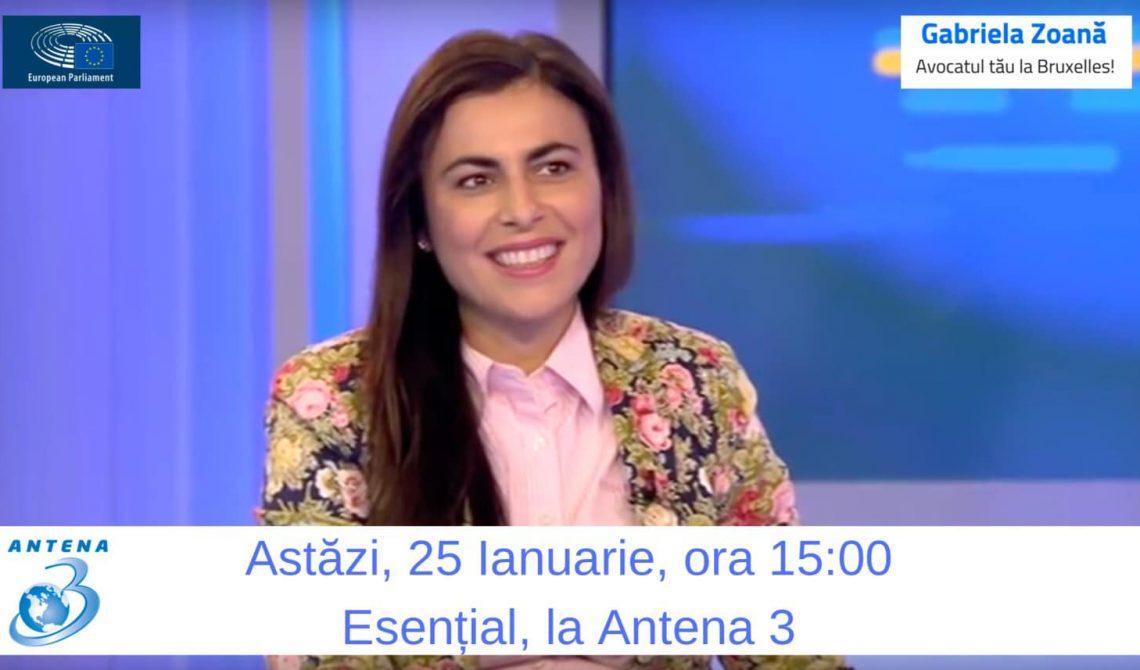 Interviu emisiunea Esential, Antena 3