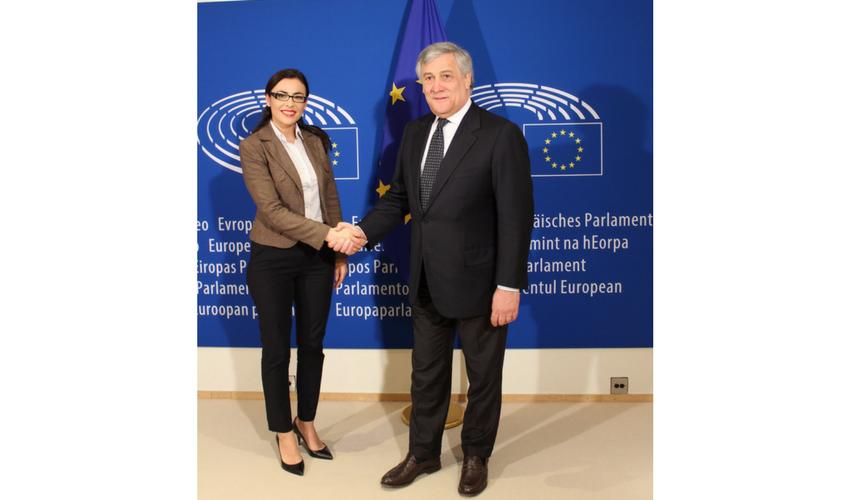 Întrevedere cu Președintele Parlamentului European Antonio Tajani