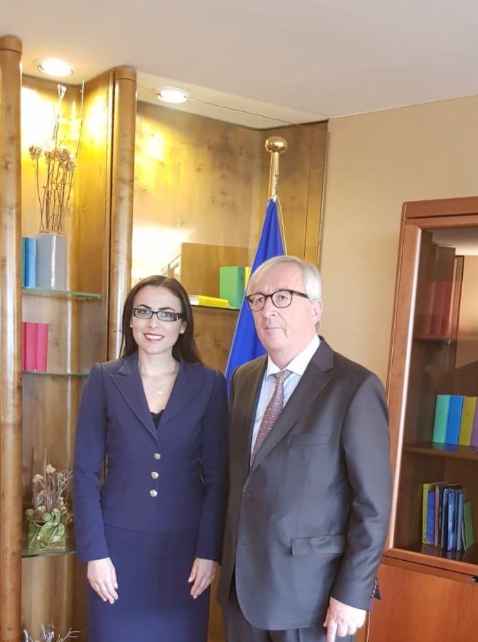 intalnire Gabriela Zoana - Jean-Claude Juncker, președintele Comisiei Europene
