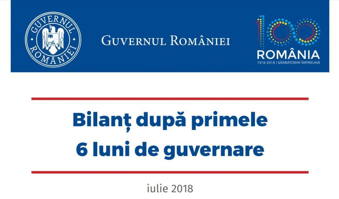 Bilantul PSD 6 luni guvernare 2018