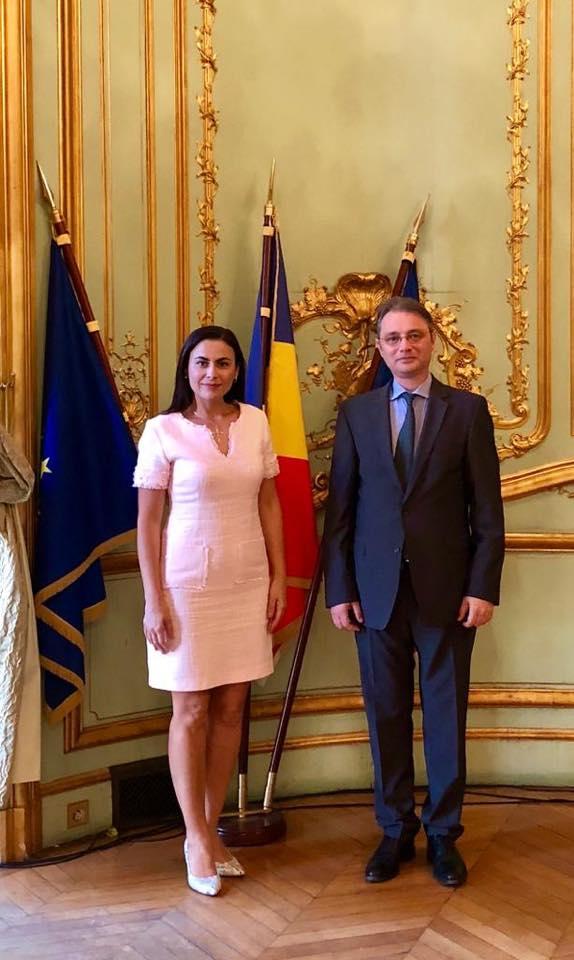 Gabriela Zoana, Forumul de la Paris, ambasadorul României în Republica Franceză, d-nul Luca Niculescu