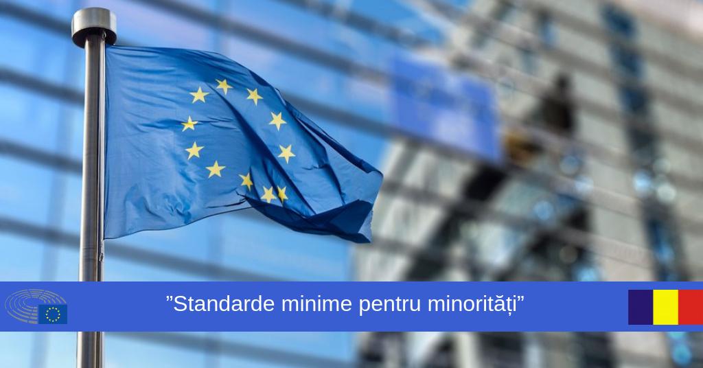 Gabriela Zoană - standarde minime pentru minoritati, discurs sustinut in cadrul Parlamentului European de la Strasbourg