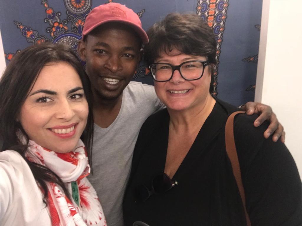 Europarlamentar Gabriela Zoana la centrul de primire a victimelor in Africa de Sud