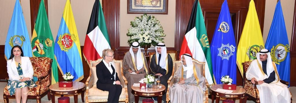 Gabriela Zoana cu emirul Kuweitului